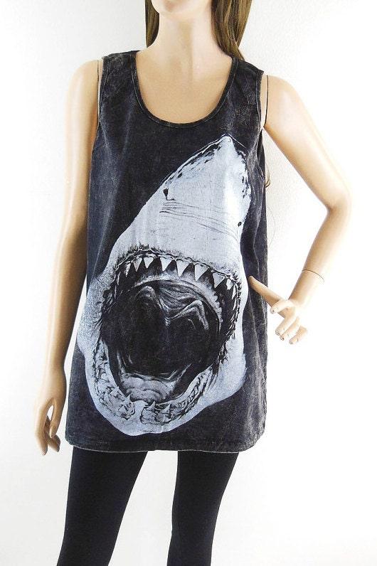 Shark tank top jaws shirt women tank top men tank top graphic for Shark tank t shirt printing