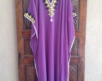 Caftan- Long kaftan tunic dress, maternity dress, beach coverup, hostess caftan