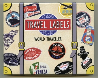 TRAVEL STICKERS, Luggage Stickers, Luggage Labels, Vintage Travel Stickers, Vintage Luggage Labels, Suitcase Stickers, Vintage Luggage