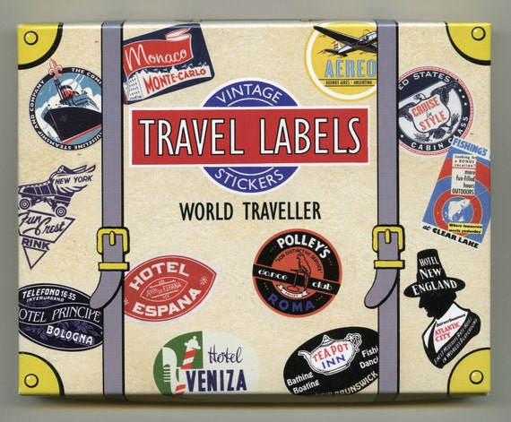 TRAVEL STICKERS Luggage Stickers Luggage Labels Vintage
