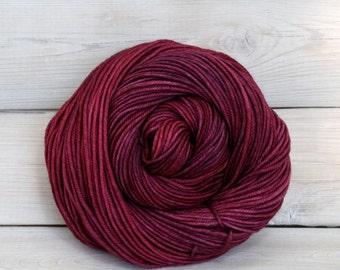 Calypso - Hand Dyed Superwash Merino Wool DK Light Worsted Yarn - Colorway: Sugar Plum
