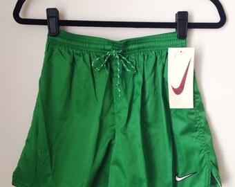 Deadstock Nike Green Athletic Shorts Boys Size Large