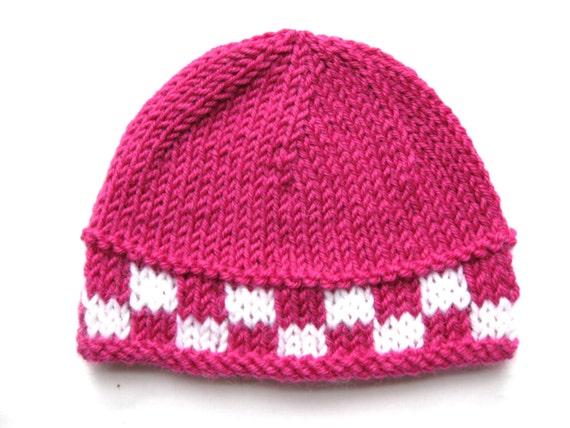 Pattern Knit Preemie Newborn Hat Pdf Beanie Prem Girl Boy Baby