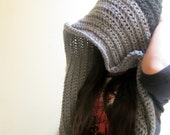 Crochet Pattern PDF for Gray and Black Unisex Hood