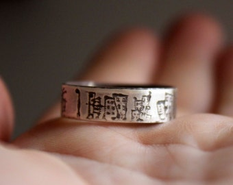 Free style, Custom order,  man or woman sterling silver ring, promise ring, thumb ring