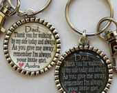 Father of the Bride Gift Thank you for walking by my side today and always your little girl Keychain  personalized beautiful quote bride