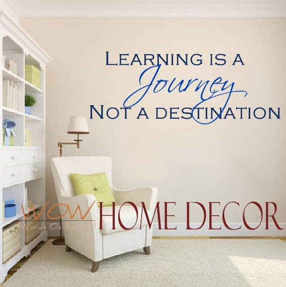 vinyl wall art decal learning is a journey inspirational