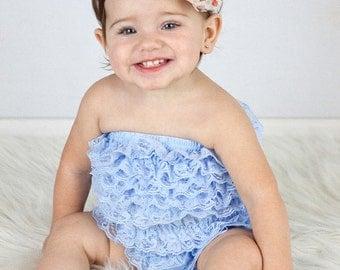 SALE - Fall Headband, Fall Baby Headband, Infant Headband, Newborn Headband - Polka Dot Headband  Frayed Chiffon and Lace Flower Headband