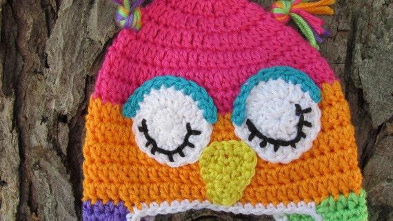 Baby Owl Hat Crochet Owl Hat Newborn Owl Hat Toddler Owl
