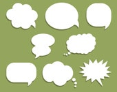 Speech Bubble Vector Pack // Instant Download