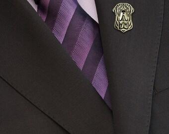 Neapolitan Mastiff brooch - gold.