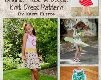 Charlie Mack-A-Doodle Knit twirl dress sizes 18m, 2/3, 4/5, 6/7 and 8/9 PDF