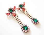 E N N A Rhinestone Earrings