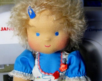 "Waldorf doll  ""Natasha""  for children from 2 years-12 inches"
