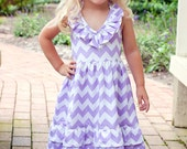 Custom Girls Chevron Maxi Dress 2T 3T 4T 5 6 7 8 10 - 5littlemonkeysdesign