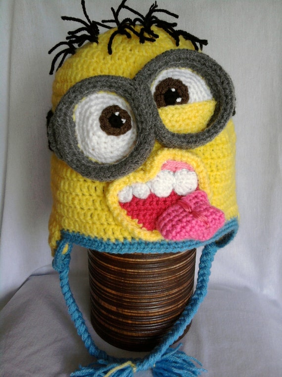 Free Crochet Pattern For Minion Eyes : Despicable me inspired minion hats Made to by ...