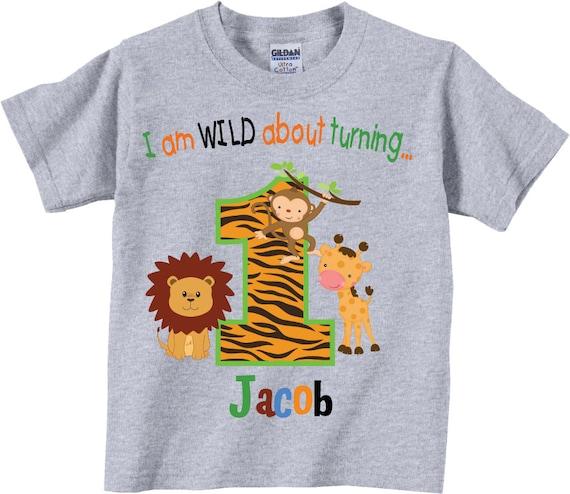 1st Birthday Shirts With Wild Jungle Animals Tees