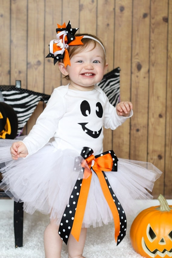 Ghost Halloween Tutu Outfit, Halloween Costume, FREE SHIPPING