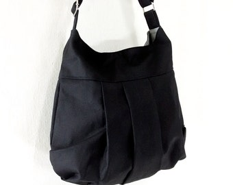 Handbags Cotton bag Canvas Bag Diaper bag Shoulder bag Hobo bag Tote bag Messenger bag Purse Everyday bag  Black  Tracy2