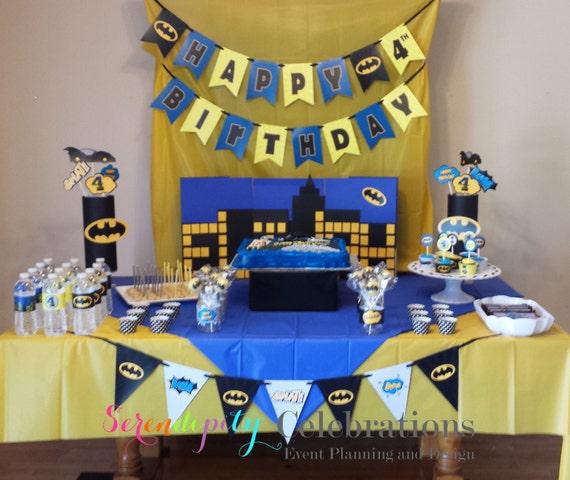 Instant Download: DIY Printable Banner Birthday Banner Bat