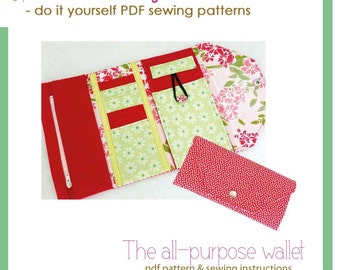 The all-purpose wallet - PDF sewing pattern