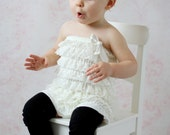 Black Leg Warmers Baby Outfit  leggings pants with cotton ruffles solid black