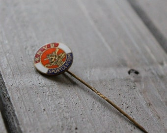collectable vintage pin- sport centre- K.N.V.B.- cute gift- for him- memories from grandfather