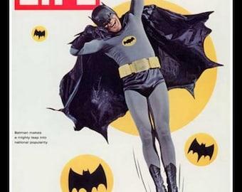 Batman Life Magazine cover image Fridge Magnet comic book character caped crusader