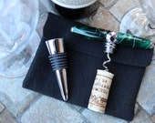 Acrylic Corkscrew Winestop, Emerald Swirl