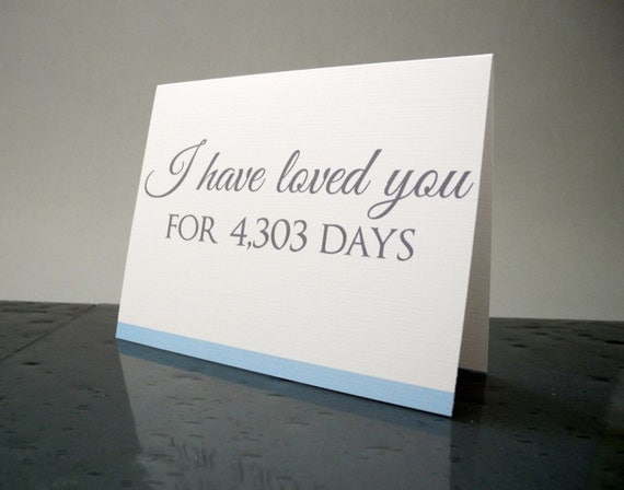 Groom Gift I Have Loved You for so Many Days Card - From the Bride Gift - From the Groom Gift
