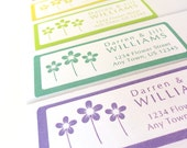 Spring Flowers Daisy Address Label Stickers, Flower Address Labels, Return Address Labels, 60 labels, Personalized Stickers