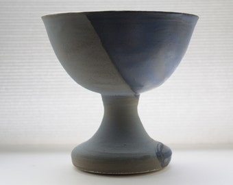 Handmade vessel with shades of blue
