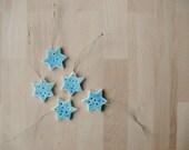 8 ceramic ornaments  Sky blue stars 8 Gift tags  - Ready to ship