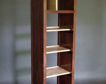 Narrow Bookcase: Tall Cabinet, Media Storage, Bookshelves, Room Divider   Mid Century
