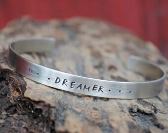 Dreamer Bracelet in Nickel Silver, Dream Cuff