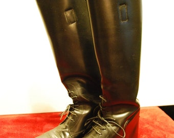 English Style Riding Boots,  Black, Equestrian, Dressage