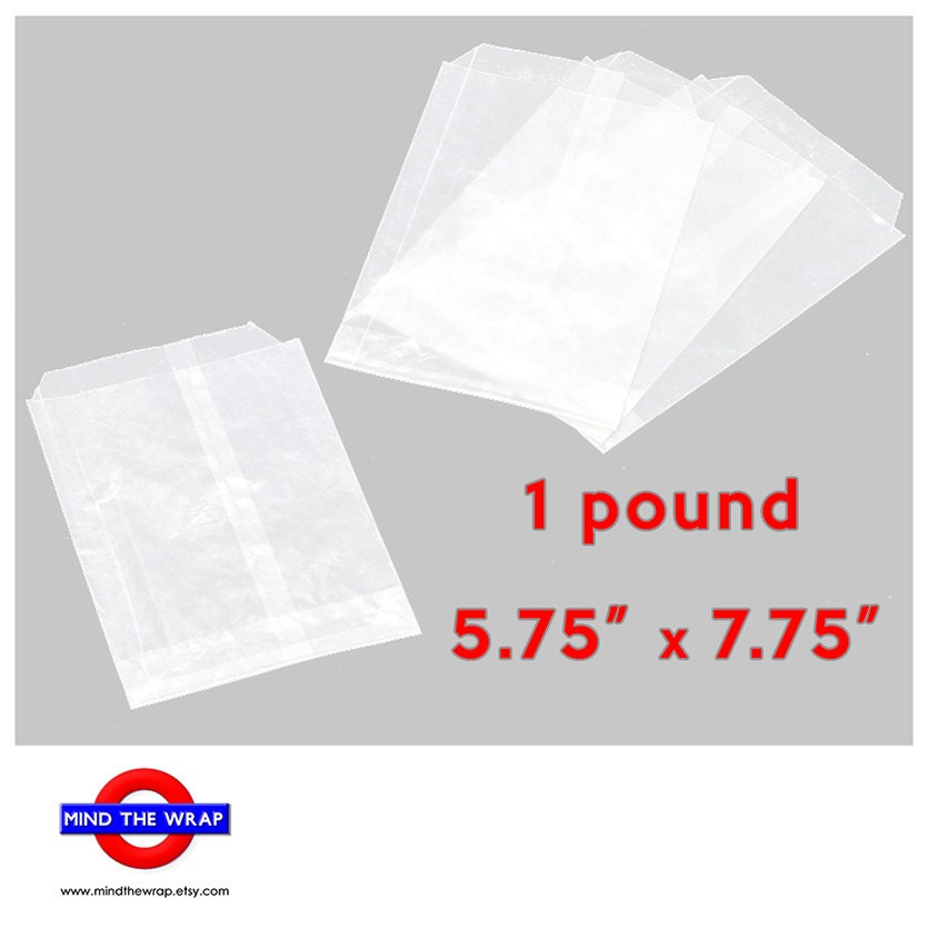100 glassine bags 5 75 x 7 75 inches flat translucent