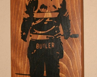 Bunker Gear Sign, Turnout Gear, Custom Wood Sign, Firefighter Sign, First Responder Sign, Law Enforcement - Sign Made From Your Photo 8x16