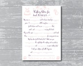Swash DIY Printable Bridal Shower Mad Libs Keepsake Game