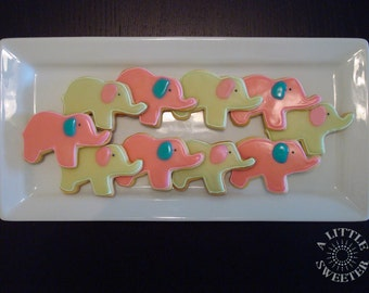 Baby Elephant cookies- 1 dozen