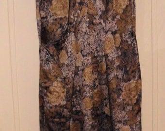 PRICE DROP: Vintage Ferman O'Grady Bronze Fine Satin Wiggle Dress  50s/60s