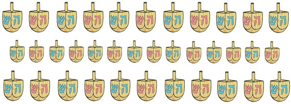 Dreidel Nail Decals