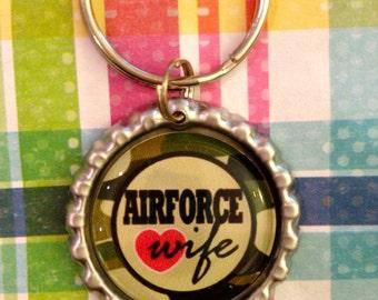 Air Force Wife airman keychain