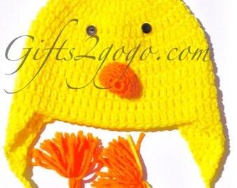 Chick Hat - Crochet Hat - Hats - New Born Crochet Hat - Child Hat
