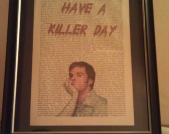 Dexter: Antique Dictionary Art