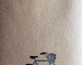 Vintage Bike Stamped Kraft Envelopes (set of 50)