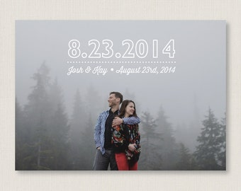 Minimalist: save the date. Modern and stylish wedding announcement, available as a postcard. Completely customizable and printable. #21