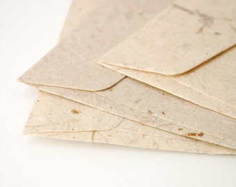 "A7 (5x7 Inch) Mulberry Paper Envelopes - Natural colour (Set of 10 or 20) - The actual size is 5""x7 1/4"""