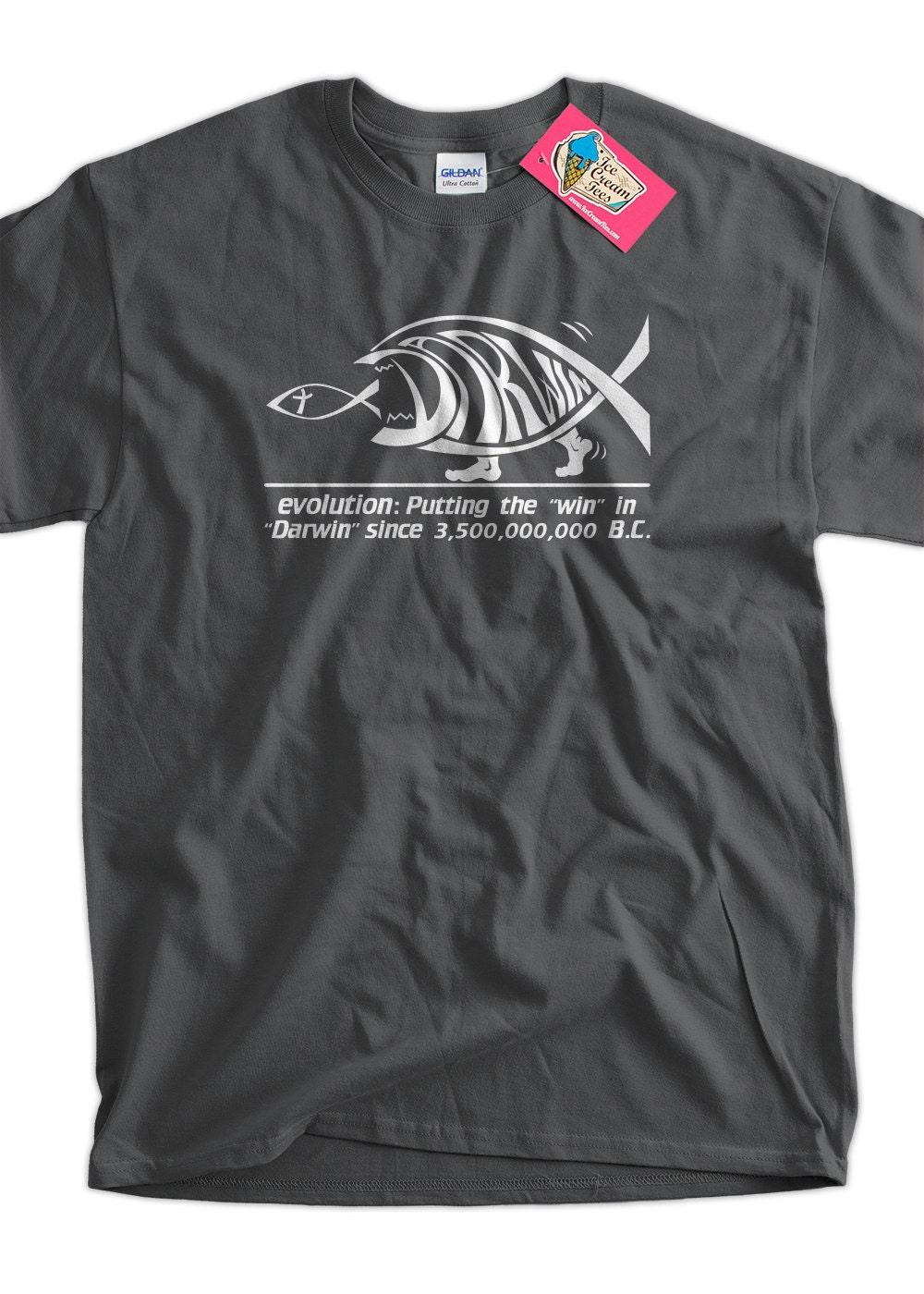 Darwin Evolution Geek Nerd Science Tee Shirt T Shirt Mens