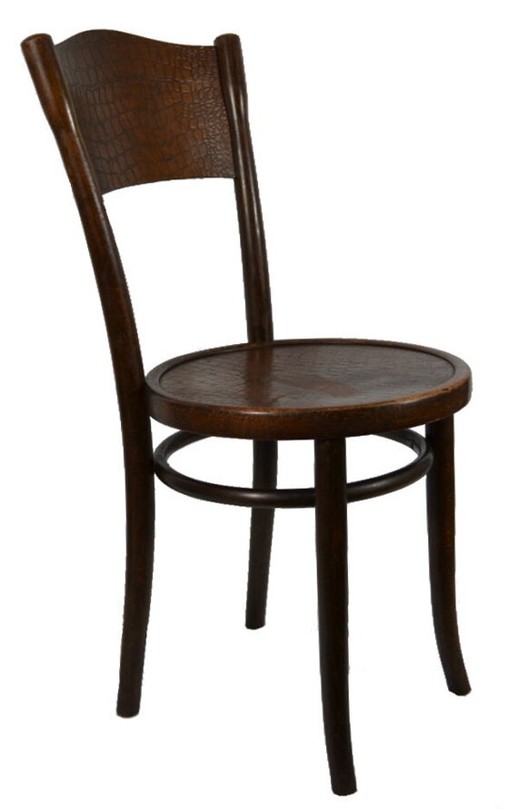 Bentwood Thonet Chair With Crocodile Skin By LavishShoestring